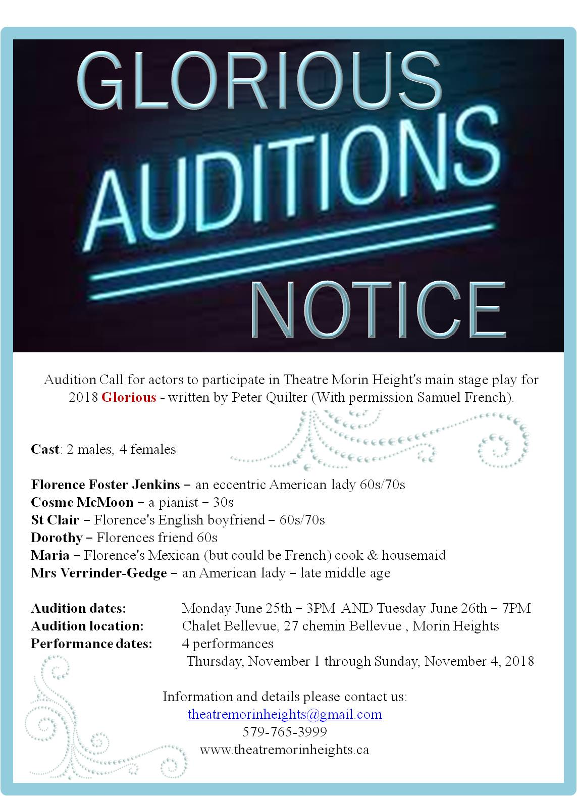 Audition Call for social media